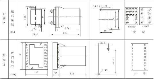 JL-21外形及开孔尺寸2