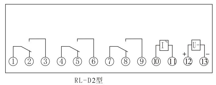 RL-2D内部接线(正视图)