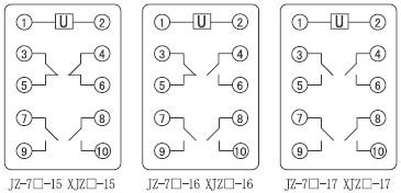 JZ-7Y-15内部接线图(俯视图)