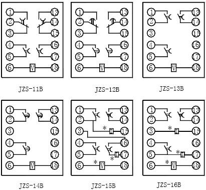 JZS-16B内部端子图