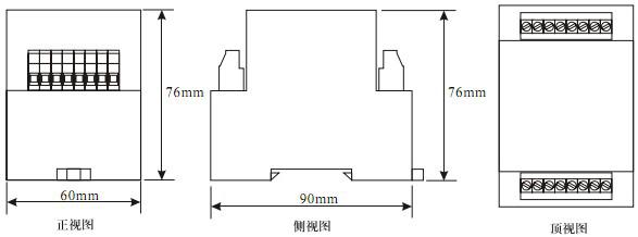 JZS-7G-44外形及开孔尺寸图