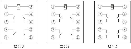 JZY-17,JZJ-17产品内部接线图
