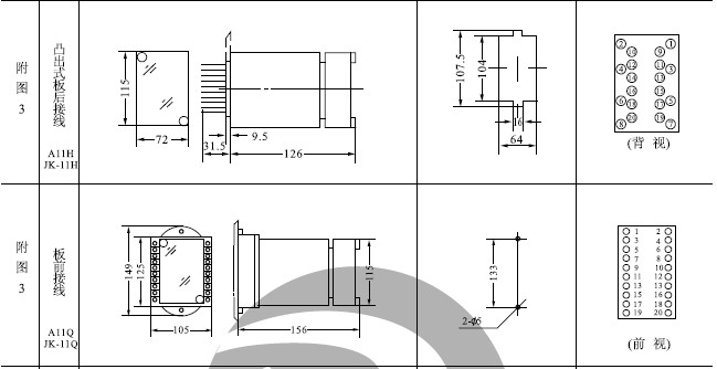 JSS-16嵌入插拔式外形及开孔尺寸见附图3