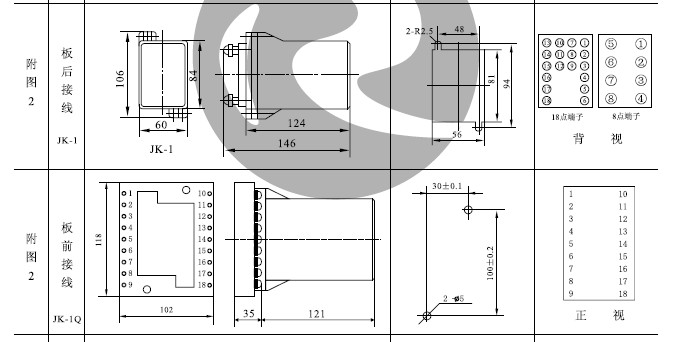 JSS-16凸出插拔式外形及开孔尺寸详见附图2。