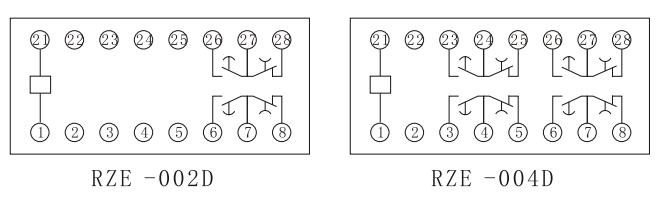RZE-D内部接线图(正视图)