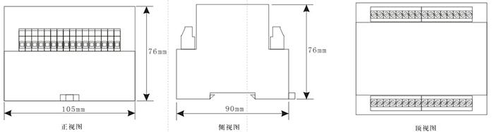 DCS-11外形尺寸及安装开孔图