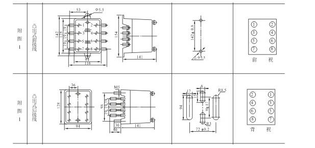 HJS(ZSJ)-10外形尺寸及安装开孔尺寸