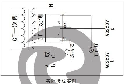 CT过电压保护器接线参考图
