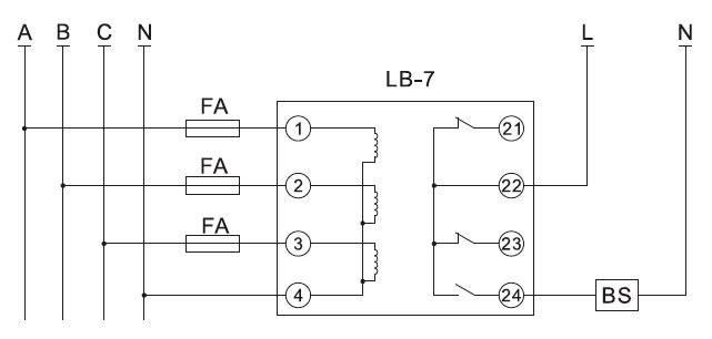 LB-7闭锁雷电竞app接线图